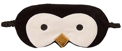 Cute Animal flauschig Neuheit Sleep, Augenmaske, Augenbinde mit 3D Ohren, Katze, Eule, Panda, Kaninchen, Schnee-Eule oder Mops Gr. One size, ()
