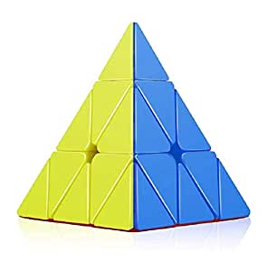 Kids Dukaan High Speed Pyramid Triangle Puzzle Cube (Sticker Less)