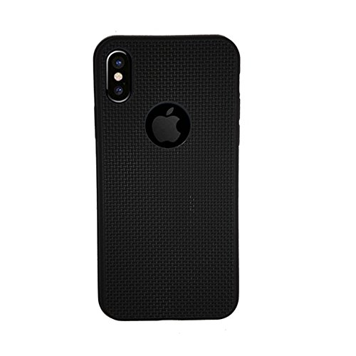more photos f1de1 987e6 Just Click Back Cover for iPhone X Net Jali (Black, Rubber)