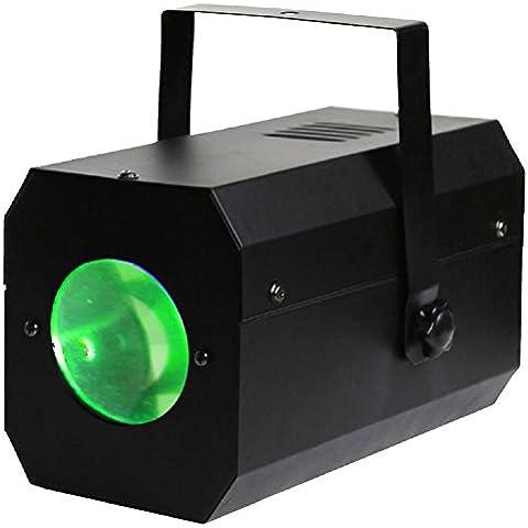 Karma Italiana DJ LED221 estroboscopio y luz disco - Accesorio de discoteca (Negro, 3W, LED, Corriente alterna, 110 -