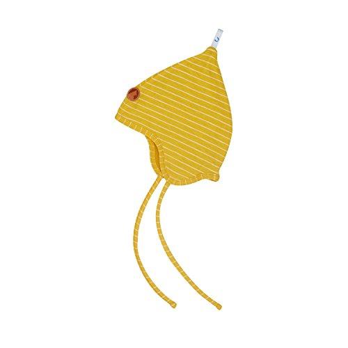 Zwergen-helm (Finkid Popi Uusi gold offwhite gestreifte Kinder Jersey Zwergen Mütze)