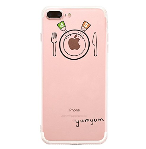 Qissy®TPU Case für iPhone 7 Plus Silikon-Hülle Soft Shell Fall Anti Shock Silikon Anti-Staub-beständig Leichtes Ende mit Glänzende Einzigartiges Persönlichkeitsdesign (iPhone 7 Plus 5,5 Zoll, 3) 3