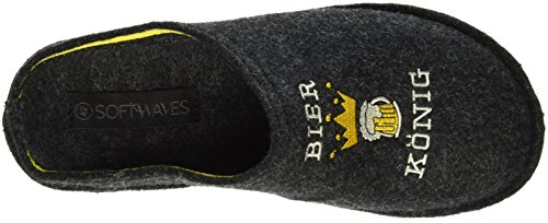 Softwaves Hausschuh, Chaussons homme Gris - Grau (250 Dk.Grey)