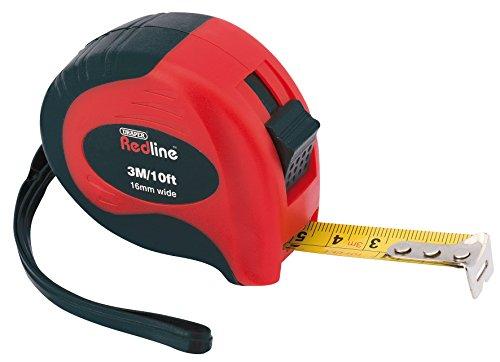 DRAPER Redline 690163m/10ft Soft Grip metrisch/imperial Maßband, 69016
