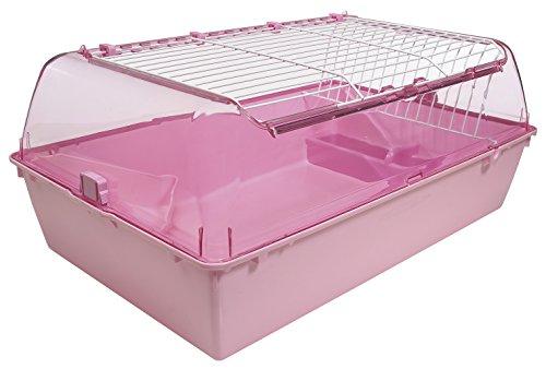Zoozone Habitat, Medium, Pink (Käfig Meerschweinchen Pink)