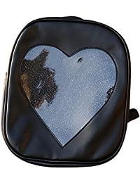 sac à dos,LHWY Sac d'été filles transparent amour coeur forme sacs à dos école sac