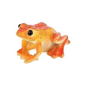 Sourcingmap Plastique Aquarium simulée en forme de grenouille, Orange