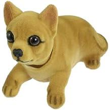 Sourcingmap Cabeza Oscilante Chihuahua Perro Forma Ornamento para Coche 14cm