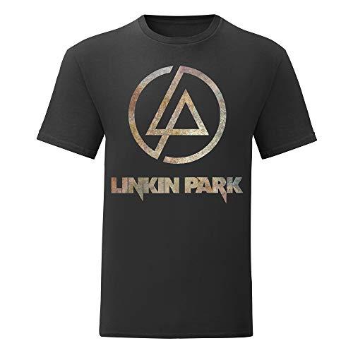 LaMAGLIERIA Camiseta Hombre Linkin Park - Rust Texture Camiseta...