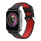 Chengstore Sport-Smartwatch, Bluetooth-Smartwatch, wasserdicht, Fitness-Tracker, Armbanduhr mit Herzfrequenz, Blutdruckmessung, Fernbedienung, Kamera, Musik für Android oder iOS Smartphones, rot