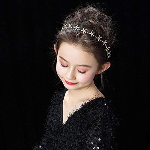 ZENWEN Kinder Kopfbedeckung Mädchen Stirnbänder Geburtstag Accessoires Wild Girls Stirnband Models Show Shows Haarschmuck