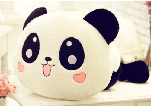 kawaii Plüsch Puppe Spielzeug Tier China Panda Kissen gefüllt Nackenrolle Geschenk 25cm/25,4cm -