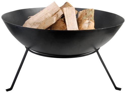 *Esschert Design Feuerschale, schwarz, 59x59x35 cm, FF114*