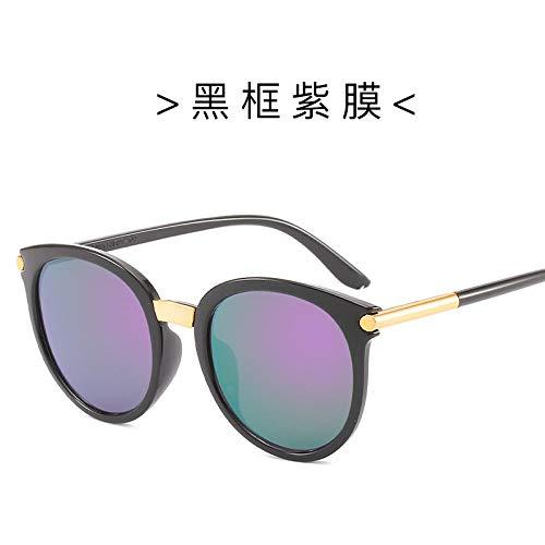 Sonnenbrille Mädchen Runde Mode Persönlichkeit Bunte Brille Frau Großen Rahmen Gesicht Reparatur Outdoor Sports Travel Sonnencreme Sunglasses-5