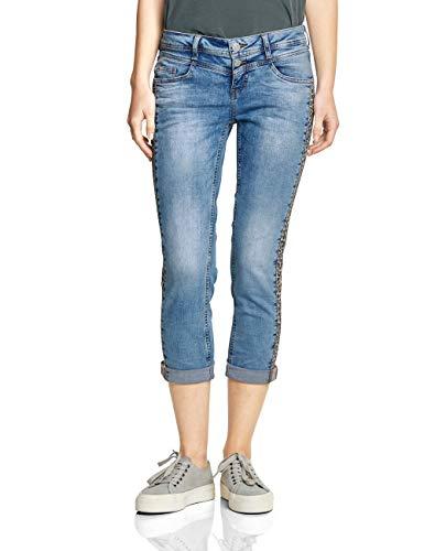 Street One Damen 372130 Crissi Slim Jeans, Authentic Light Blue Washed, 33W/26L Denim Light Blue Jeans