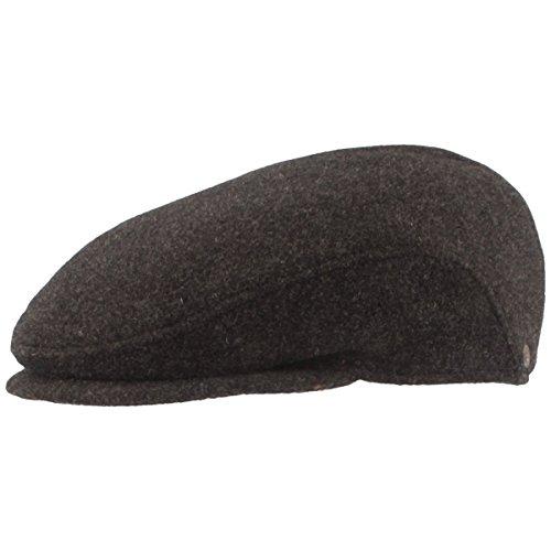 Chapeau de Gousset pour Homme avec Coussinets d'oreilles, Bonnet Flatcap - 100% Laine - Imperméable et Confortable - Doux pour la Peau et Confortable.