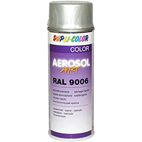 Dupli Color 741425 Aerosol Vernice Spray Art, 400 ml, RAL 9006 Alluminio Chiaro Satinato