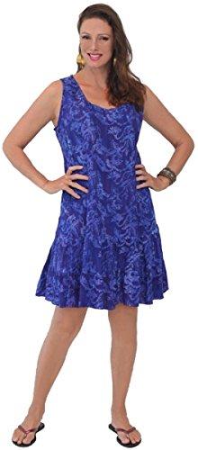 Lotustraders -  Vestito  - linea ad a - Tie-Dye - Senza maniche  - Donna Lila