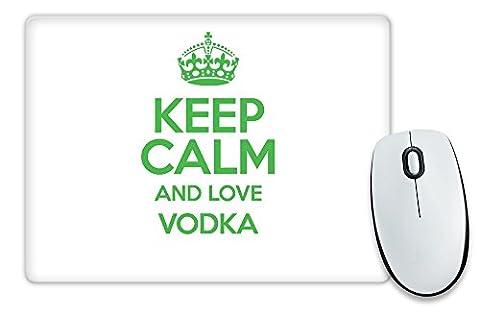 Grün Keep Calm und Love Wodka Mauspad TXT 3120 (Grün Wodka)
