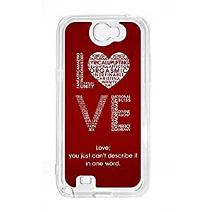 a AND b Designer Printed Mobile Back Cover / Back Case For Samsung Galaxy Note 2 (SG_N2_676)