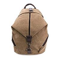 C-Xka Women Vintage Fabric Cotton Leather Canvas Rucksack Casual Multi-function Laptop Bookbag School bag (Color : F)