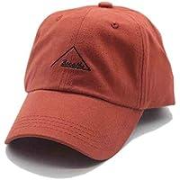 Sombrero para el sol Gorra de béisbol Americana roja y Anaranjada Hombres y Mujeres Pareja Letras