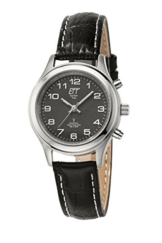 ETT Eco Tech Time Funk Solar Damen Uhr Analog mit Leder Armband ELS-11331-51L
