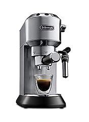 Idea Regalo - De'Longhi EC685.M Macchina per caffè Espresso Manuale, 15 Bar, 1350 W, 1 Litro, caffè in polvere o in cialde (sistema E.S.E), Acciaio Inossidabile