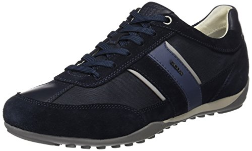 Geox U Wells C,Baskets Basses Homme, Bleu (Dk Navy), 44 EU