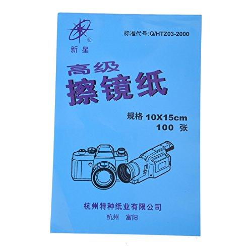 TOOGOO(R) Kamera Reinigung Papierreiniger Optik-Reinigungspapier 100 Blatt