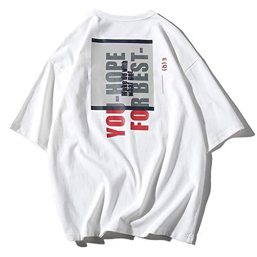 kolila Unisex Hip-Hop T-Shirts Tops Sommer Casual Graffiti Brief Print Streetwear Stil Pullover Tops Tee Herren Damen Metallic-print-sweatshirt