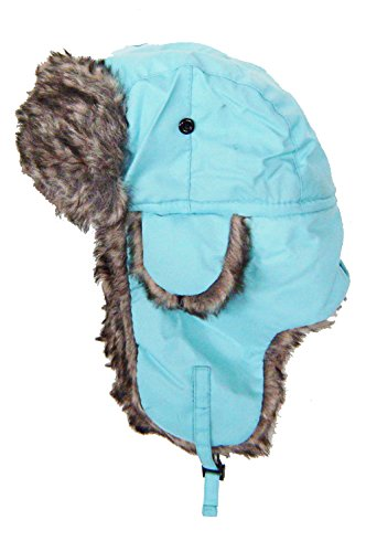 modestone-warm-trapper-bomber-hat-faux-fur-trim-o-s-light-blue