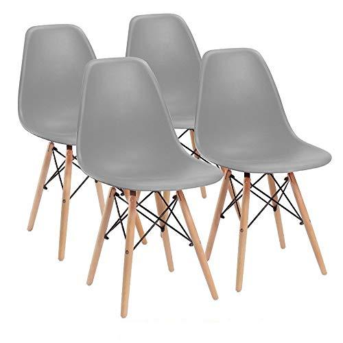 Comfortableplus Juego 4 sillas Comedor Eiffel Retro