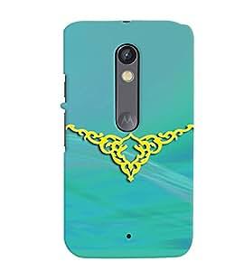 Fuson Premium Yellow Tattoo Printed Hard Plastic Back Case Cover for Motorola Moto X Play