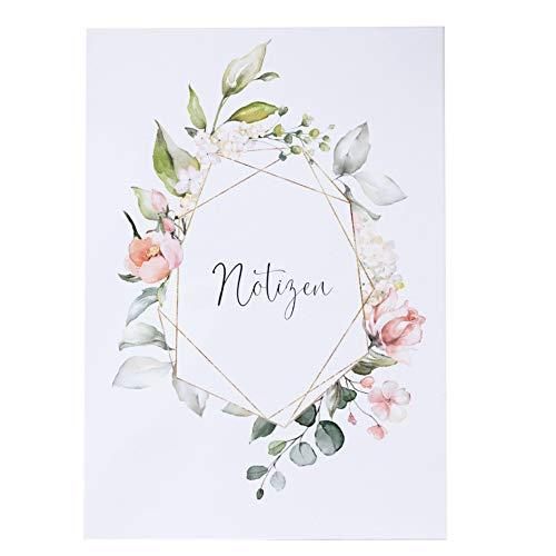 Notizbuch Blütenzauber DIN A 5 blanco Tagesplaner Hochzeit Geschenk