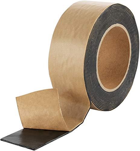 Poppstar doppelseitiges Butyl Klebeband (5m x 50mm x 1,6mm) Dichtband selbstklebend schwarz