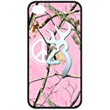 777Life Protective Phone Case Cover for Iphone 4 4S Browning Cutter Logo Pink Camo Peace Sign