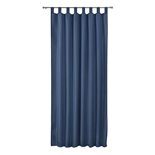 Beautissu Cortina Lazos Amelie - 140x245 cm Azul Uni