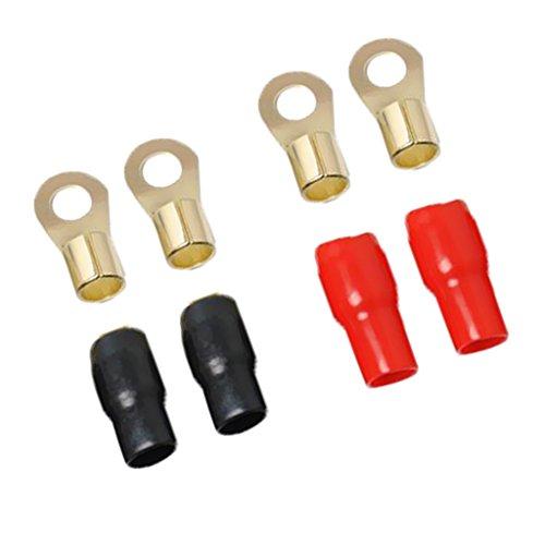 Sharplace 4 Gauge Power Draht/Erdungskabel Gabelklemmen 8,5 mm Durchmesser/Gabel Verkabelung Stecker Kabelklemmensatz (4-gauge-erdungskabel)