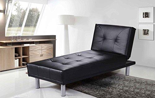 Divano Nero Ecopelle : Sleep design manhattan divano letto angolare con chaise longue in