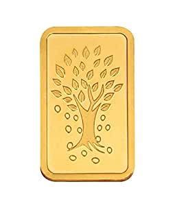 Kundan 2 gm, 24k(999.9) Yellow Gold Kalpataru Tree Precious Coin