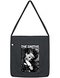 Top Quality 'Recycled' The Smiths There's a Light Shopper Tote Sling Bag Dark Grey