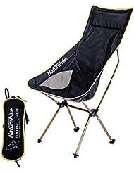 NatureHike extérieur Chaise pliable ultraléger Camping Plage Pêche Dessin Chaise Chaise de voyage randonnée avec sac de transport