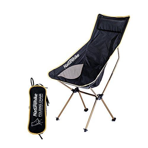 Naturehike leicht tragbarer, faltbarer Stuhl Sitz für Angeln Wandern Rucksackreisen, champagnerfarben