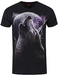 Spiral T-Shirt Wolf Soul Homme Noir