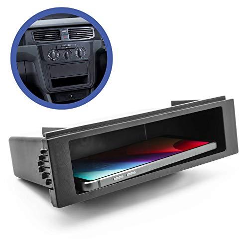 Auto KFZ Radio Universal 1-DIN Ablagefach Schacht Rahmen Blende Blindschacht