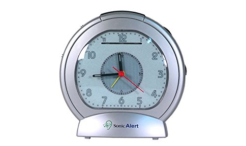 Sonic Alert SBA475SS Analogue Loud Plus Vibrating Alarm Clock - Silver- Uk Version