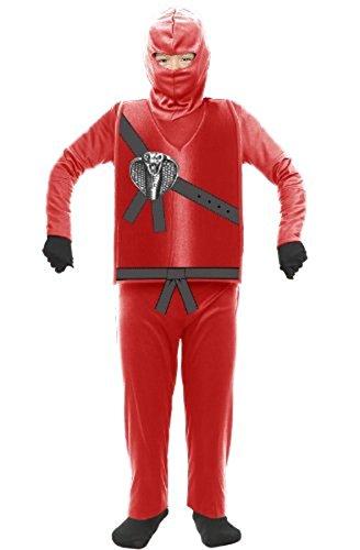 Charades Ninja Master rot Kinder Kostüm Ninjago (Kinder Small (Kostüm Ninjago Rot)