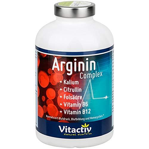 ARGININ Complex, L-Arginin hochdosiert, Durchblutung + Herz + Kreislauf + sexuelle Vitalität*, 180 Kapseln (Monatspack)
