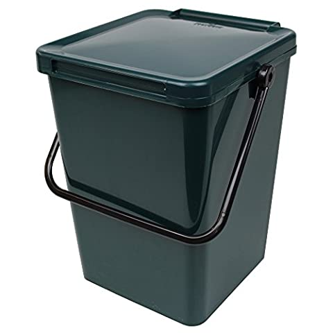 Large Green Kitchen Compost Caddy (10L) for Food Waste Recycling (10 Litre) - 10L Plastic Composting